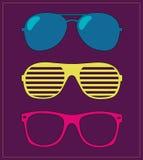 Set of sunglasses. illustration background Royalty Free Stock Image