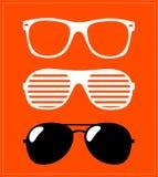 Set of sunglasses.  illustration background Royalty Free Stock Photography