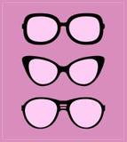 Set of sunglasses.  illustration background Stock Image