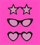 Set of sunglasses.  illustration background Royalty Free Stock Images