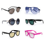 Set of sunglasses Royalty Free Stock Images