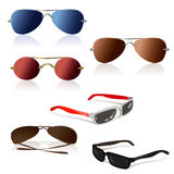 Set of of sunglasses  Stock Photo