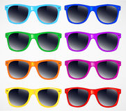 Set of sunglasses vector illustration background Stock Photo