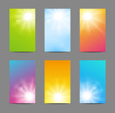 Set of sunny banners. Set of vertical sunny banners Royalty Free Stock Image