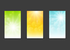 Set of sunny banners Stock Photography
