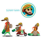 Set of sunny man Stock Photo