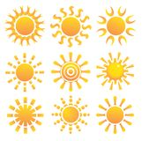 Set of suns. Stock Images