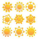 Set of suns. Stock Image