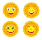 Set of suns Stock Photo