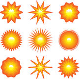 Set of suns Stock Images