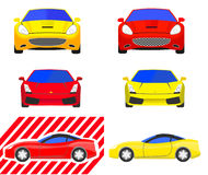 Set of Supercars images Royalty Free Stock Image