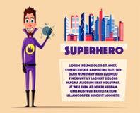 Set of superhero. Cartoon vector illustratration. Royalty Free Stock Image