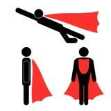 Set of Superhero Icons Royalty Free Stock Images