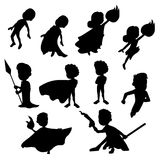 Set of superhero silhouttes vector illustration
