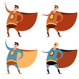 Set of superheroes Stock Images