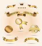 Set of Superior Quality and Satisfaction Guarantee Royalty Free Stock Image