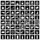 Set of supermarket symbols. Vector illustration Stock Photos