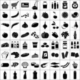 Set of supermarket symbols Royalty Free Stock Image