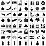 Set of supermarket symbols. Vector illustration Royalty Free Stock Image