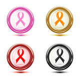 set of support ribbon icons. Stock Photography
