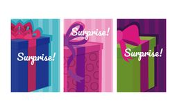 Set of suprise cards. Colorful vector illustration graphic design stock illustration
