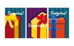 Set of suprise cards. Colorful vector illustration graphic design vector illustration