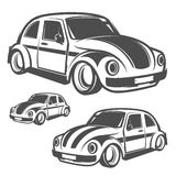 Set of surf car and surfer bus for emblems ,logo and prints. Stock Image