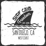 Set of Surf club concept . Royalty Free Stock Photography