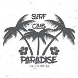 Set of Surf club concept . Royalty Free Stock Photos