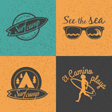 Set of Surf logo and emblem. Stock Photo
