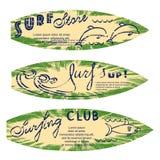 Set of surf logos Royalty Free Stock Photos
