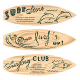 285_set of surf logos Royalty Free Stock Images