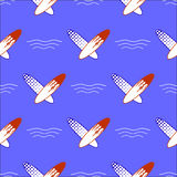 Set of Surfboards Seamless Sport Pattern Royalty Free Stock Photography