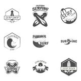 Set. surfing logo vector illustration Royalty Free Stock Photo