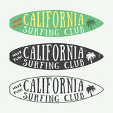 Set of surfing logos, labels, badges and elements in vintage style. Stock Photography