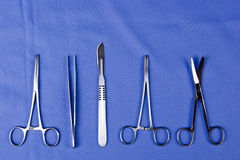 Set of surgical instruments Royalty Free Stock Photo