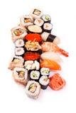 Set of sushi. On white background closeup Royalty Free Stock Image