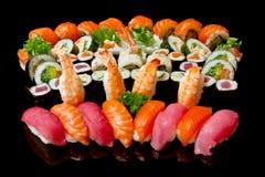 Set Sushi Stockfoto
