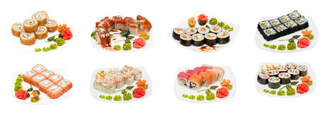 Set Sushi Stockbild