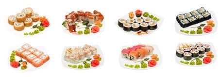 Set Sushi Stockbild