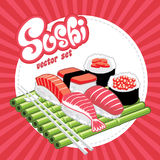 A set of sushi  Stock Images