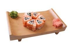 Set of sushi with caviar Stock Photos