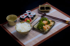 Set sushi diner table Royalty Free Stock Photo