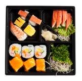 set sushi för ask Fotografering för Bildbyråer