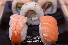 set sushi för fisk Royaltyfri Foto