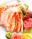 set sushi för japan Arkivbild