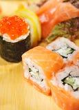 set sushi för kokkonstjapan Royaltyfria Foton