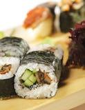 set sushi för kokkonstjapan Royaltyfri Fotografi
