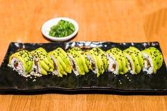 set sushi för maki Fotografering för Bildbyråer