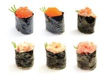 set sushi för nigiri royaltyfri foto